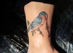 Robin bird tattoo vintage art prints 64 ideas for 2019 Bluebird Tattoo, Bird Tattoo Men, Bird Tattoo Meaning, Black Bird Tattoo, Bird Tattoo Wrist, Tattoos With Meaning, Ankle Tattoo, Sweet Tattoos, Word Tattoos