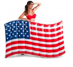 Giant Waving American Flag Pool Float