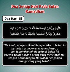 Doa hari 15 Ramadhan