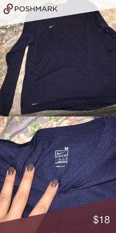 NIKE DRI-FIT LONG SLEEVE NIKE PLAIN LONG SLEEVE IN PERFECT CONDITION Nike Shirts Tees - Long Sleeve