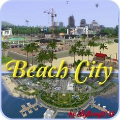 Beach City by - The Exchange - Community - The Sims 3 Sims 3 Worlds, Tourist Trap, Beautiful Beaches, City, Travel, Community, World, Viajes, Cities