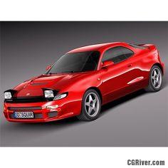 Toyota Celica St 185 1990 - 1993 - 3D Model