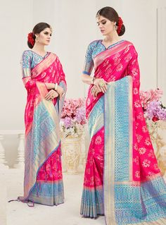 490d7ba085173 Buy Magenta Silk Festival Wear Saree 144393 with blouse online at lowest  price from vast collection