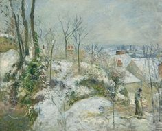 Camille Pissarro - Rabbit Warren at Pontoise, Snow, 1879