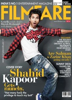 Shahid Kapoor on Filmfare