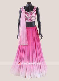 Indian Party Gowns, Indian Gowns Dresses, Indian Bridal Outfits, Lehnga Dress, Lehenga Blouse, Sari, Lehenga Choli With Price, Half Saree Designs, Blouse Designs