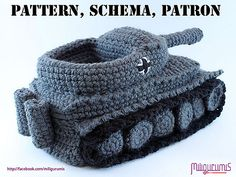 Ravelry: Panzer Slippers Pattern (Tiger I) pattern by Miligurumis    Haha, for the Call Of Duty sort of man in your life!  I gotta see somebody make these!    http://www.ravelry.com/patterns/library/panzer-slippers-pattern-tiger-i