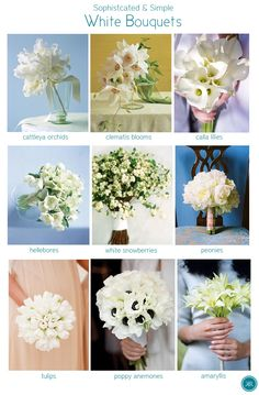All White bouquets utilize the best design elements of your favorite flower