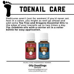 Toenail care with essential oils