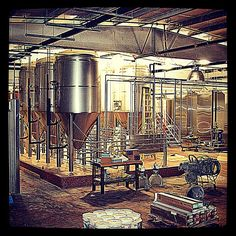 A picture of the brewery just before the first brew!