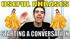 USEFUL PHRASES: Como START A CONVERSATION IN ENGLISH!!! | Prof. Newton R...