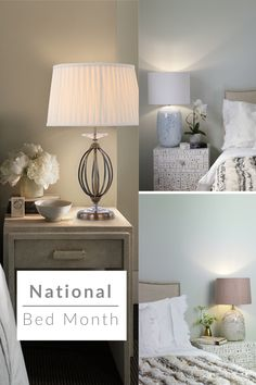 National Bed Month is all about making people aware of how important it is to get a good nights sleep! We have a wide selection of bedside lamps ranging from industrial, luxurious, traditional and more! Help yourself get a great nights sleep by creating a calming and relaxing environment. #thelightingcompany #lighting #light #lights #lightdesign #mylightstory #interiordesign #interiors #interiorstyling #homedecor #home #decor #nationalbedmonth #sleep #luxurious #industrial #traditional #bed Great Night, Good Night Sleep, Interior Styling, Interior Design, Ceramic Table Lamps, Bedside Lamp, Traditional Design, Floating Nightstand, Calming