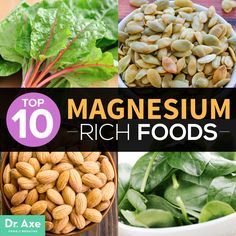 Top 10 Magnesium Rich Foods See also pumpkin seeds: http://www.whfoods.com/genpage.php?tname=foodspice&dbid=82