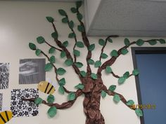 First Grade Crusade Garden Theme Classroom, Forest Classroom, Classroom Setting, Classroom Themes, Classroom Organization, Camping Books, Camping Theme, Tree Study, Safari Decorations