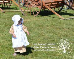 Free Sewing Pattern:  Toddler Pioneer Dress