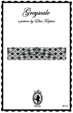 Bead loom pattern bracelet Silver slide LOOM bracelet PDF
