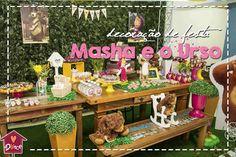 Faça uma festa Masha e o Urso inesquecível, no clima de bosque do desenho, com inspirações de decoração, comidinhas e lembrancinhas.