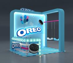 Oreo activation Booth on Behance Shop Display Stands, Pop Display, Display Design, Store Design, Exhibition Stall, Exhibition Stand Design, Exhibition Display, Stand Modular, Lounge Design