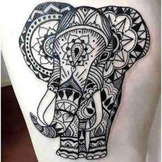 Best Geometric Elephant Tattoo Idea