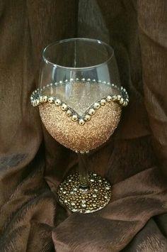 Wedding wine glass handmade