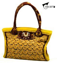 Citron Jute Handmade Crochet Shoulder Bag with by CitaKayto, $780.00