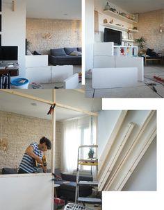 Cómo hacer un separador de ambientes con zona de trabajo