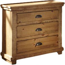 Progressive Furniture Willow Nightstand in Distressed Pine Brown Storage, Transitional Pine Furniture, Hooker Furniture, Bedroom Furniture, Cabin Furniture, Furniture Decor, Pine Bedroom, Master Bedroom, Upstairs Bedroom, 3 Drawer Nightstand