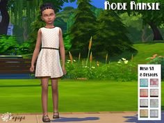 Sims 4 CC's - The Best: Dress for Girls by Sims Artists