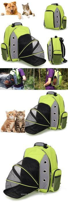 Pet Portable Foldable Shoulders Bag Cat Dog Travel Breathable Package Other Cool Ideas for Pets: http://www.damniwantit.net/category/pets/