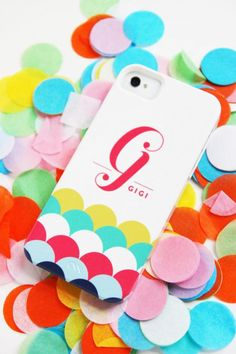 Gorgeous personalized #iPhone cases by Pencil Shavings Studio. So colorful!
