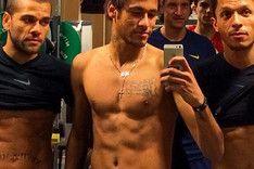 """El """"trabajo duro"""" de Neymar, Alves y Adriano"""
