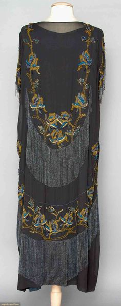 Evening Gown (image 3) | early 1920s | silk, glass beads | Augusta Auctions…