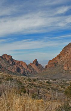 The Chisos Mountains in Big Bend National Park