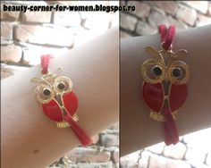 Funny Retro Owl Thin Leather Bracelet 8509