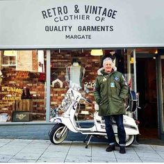 Retro & Vintage Clothier of Quality Garments, Margate Mod Scooter, Lambretta Scooter, Vespa, Fred Perry Polo Shirts, Fishtail Parka, Paul Weller, Mod Girl, Harrington Jacket, Slim Fit Chinos
