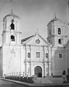 San Agustin after the 1880 earthquake Philippines Culture, Manila Philippines, Baroque Architecture, Architecture Drawings, Philippine Architecture, Intramuros, City Of God, Filipiniana, Old Photos