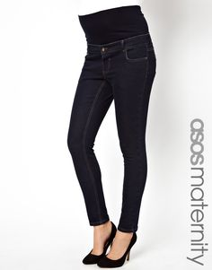3cf3ae9e14a ASOS Maternity Exclusive Elgin Skinny Jeans with Over the Bump Waistband at  asos.com