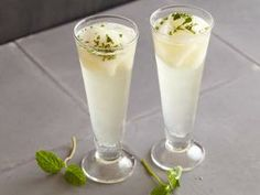 Giada De Laurentiis - Sgroppino. Chilled prosecco, vodka, lemon sorbet, and mint. Refreshing holiday cocktail