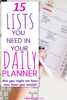 Daily Bullet Journal, Bullet Journal Writing, Bullet Journal Ideas Pages, Junk Journal, To Do Planner, Planner Tips, Happy Planner, Life Planner, Daily Planner Printable