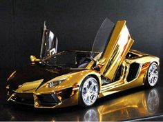 Robert Gulpen's take on the Lamborghini Aventador which gives the car a gold and platinum makeover complete with jewels and embellishments.