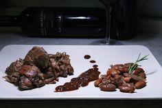 Stufato di capra e fagioli al coccio in abbinamento con Cantele Salice Salentino Riserva 2008