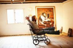 Oliver Clegg in his studio