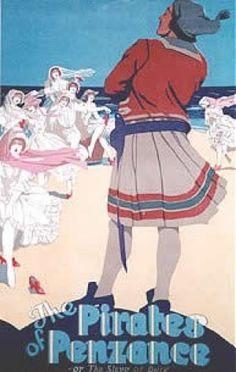 Pirates of Penzance poster, 1920