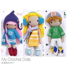 My crochet dolls no.11,12 & 13