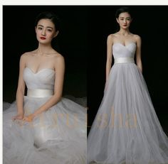 6612f9f2474 New White Ivory Wedding Gown Evening Formal Party Cocktail Prom Bridesmaid  Dress
