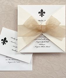 Cheap Fleur De Lis Wedding Invitations | The Wedding Specialists