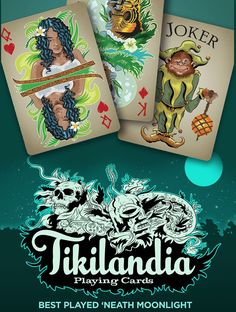 The Tikilandia Playing Cards Kickstarter Campaign is live! #tiki #tikiart #playingcards
