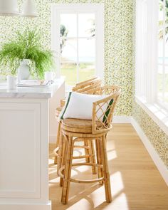 Avalon Swivel Bar & Counter Stool   Serena and Lily Swivel Counter Stools, Bar Counter, Bar Stools, Avalon Furniture, Foot Rest, Textured Walls, Rattan, Home Improvement, Dining Chairs