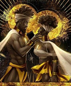 Black love always Sexy Black Art, Black Girl Art, Black Art Painting, Black Artwork, King Painting, Black Couple Art, Black King And Queen, King Queen, Art Et Design