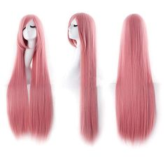 Ultra Long Inclined Fringe Straight Synthetic Party Wig